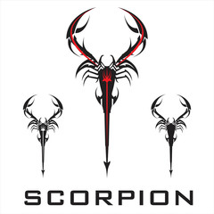 scorpion. elegant stylized scorpion