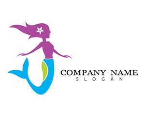 Mermaid logo template