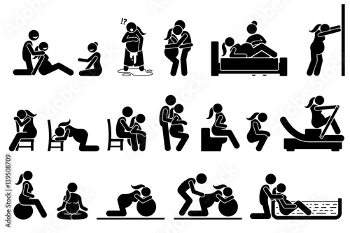"""Childbirth labor positions and postures at home. Natural ..."