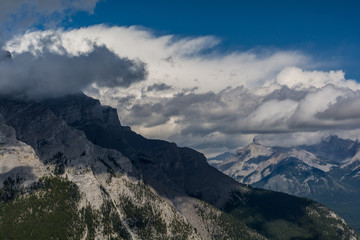 Canadian mountains, clouds