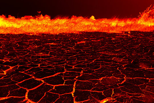 the surface of the lava. background.