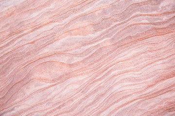 Pink and white layers in sandstone. Wall mural