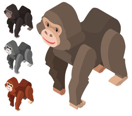 3D design for gorilla