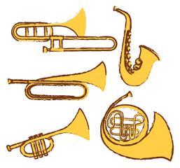 Doodel design for different types of musical instrument