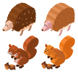 3D design for hedgehogs and squirrels