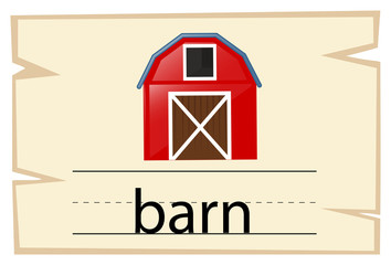 Wordcard design for word barn