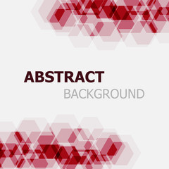 Abstract maroon hexagon overlapping background