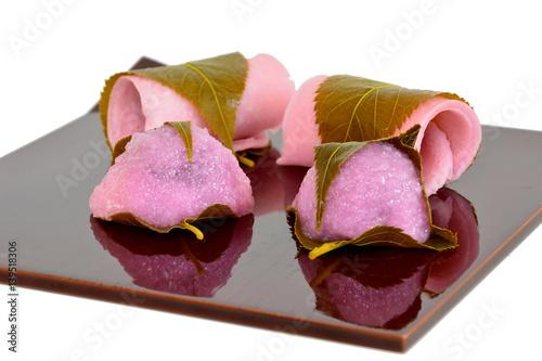 Sakuramochi : Japanese traditional bean paste rice cake