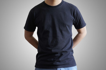 mockup black t-shirt