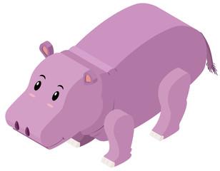 3D design for cute hippo
