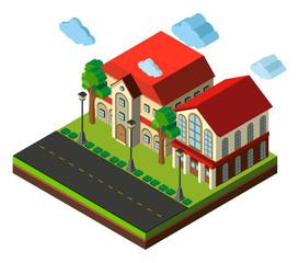 3D design for school buildings