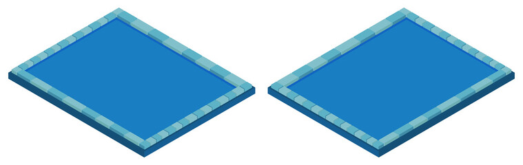 Swimming pool in two angles