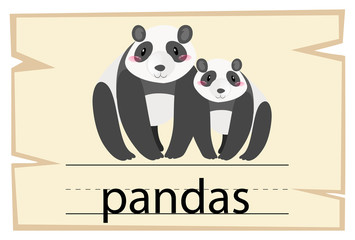Wordcard template for word pandas