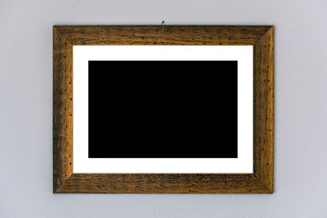 Blank picture placeholder in wooden frame