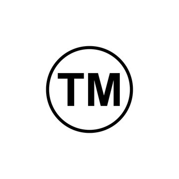 trademark symbol isolated vector