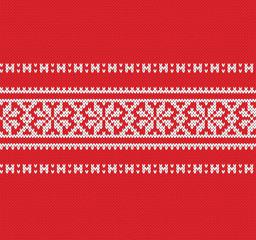 Festive Sweater Design. Fairisle Seamless Knitted Pattern