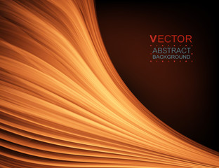 Abstract curve. Smooth silk texture. Vector background.