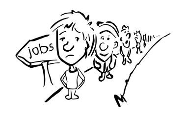 Werkloosheid concept