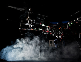 Quadrocopter at studio