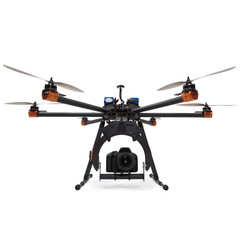 Hexacopter with camera at studio