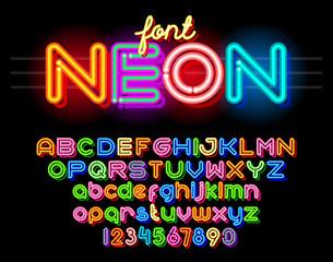 Round Neon Font