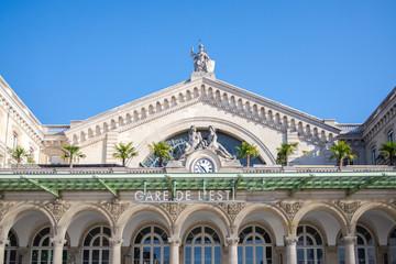 Paris, gare de l'Est, railway station, facade