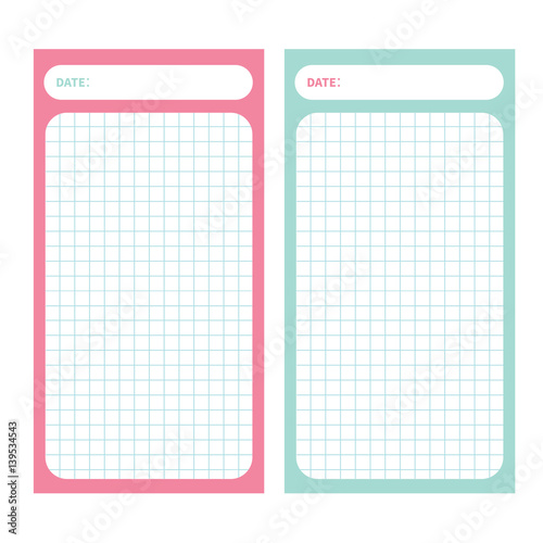 Paper Note List pad. Planner set. Cell texture. To do list Organizer ...