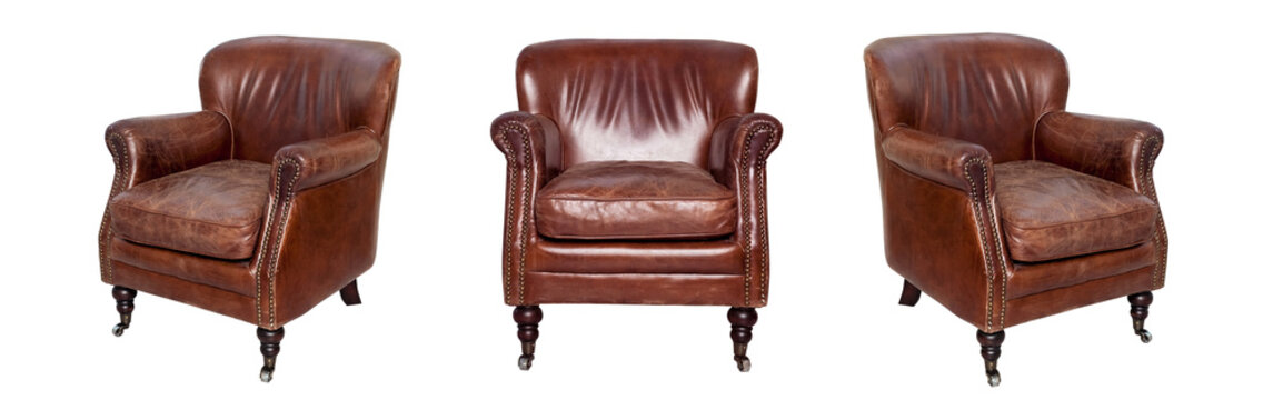 Leather brown chair