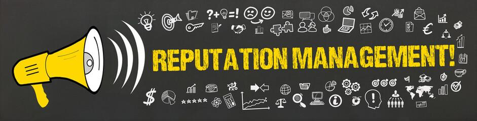 Reputation Management! / Megafon mit Symbole