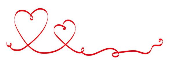 rotes Band mit Herzen