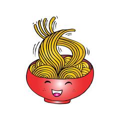 Cute cartoon noodle