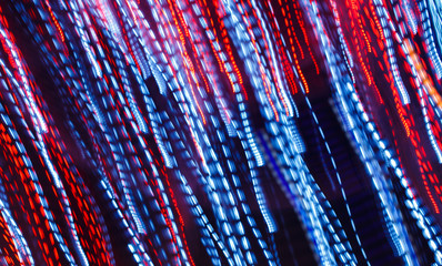 Abstract background long exposure night photography with light trails