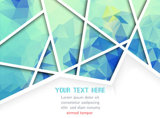 Abstract blue geometric background with polygons. Info graphics composition with geometric shapes. Vector illustration