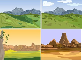 Set of vector lanscapes.