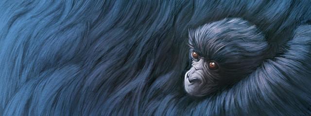 Bebe gorila abrazado