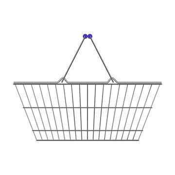 metal supermarket basket