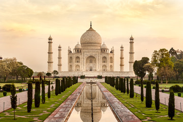 Taj Mahal at sunrise, India