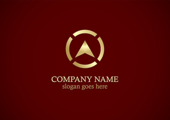 gold triangle arrow navigation logo