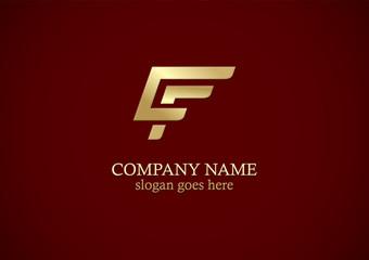shape line gold company logo