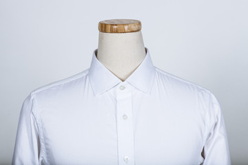 White shirt on a mannequin