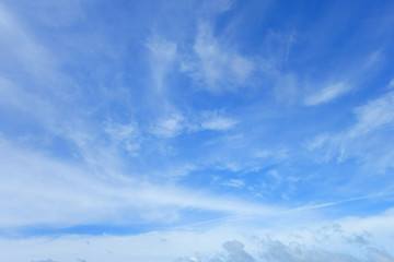 Blue Sky and White Cloud. Beautiful Nature Background