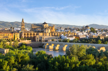 Cathedral, Mezquita and Roman bridge, Córdoba, Spain