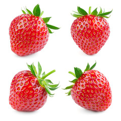 Strawberry. Fresh berry isolated on white background. Collection.