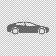 Car icon. Speed symbol. Vector illustration EPS 10 on transparent background.
