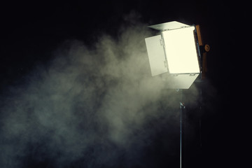 Led light panel with smoke effect