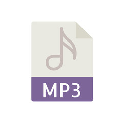 File Type Icons - MP3 File (Flat)