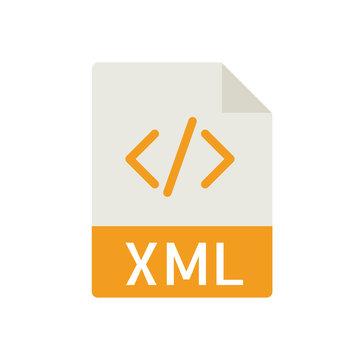 File Type Icons - XML File (Flat)