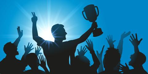 Champion - Vainqueur - Réussite - Coupe - Victoire - Succès