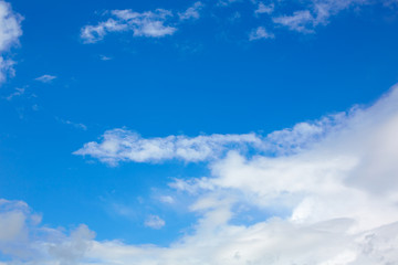 Blue sunny sky white clouds
