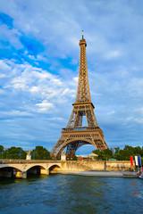 Fotobehang Eiffeltoren Eiffel tower at sunset Paris France
